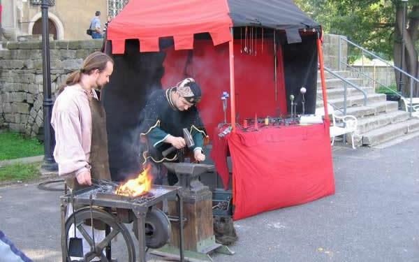 ukázka kovářského řemesla