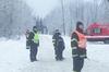 Požární asistence - závody psích spřežení v obci Sněžník