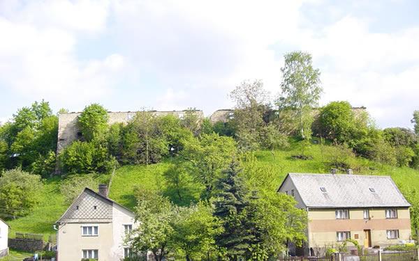 zřícenina Kamenného dvora v Martiněvsi